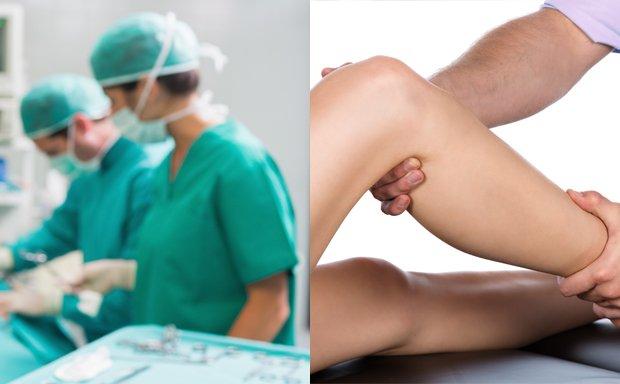 Sala operatoria o fisioterapia?